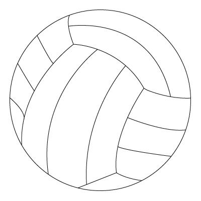 Tegning til farvelægning af en bold