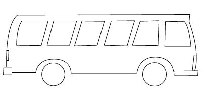 Tegning til farvelægning af en bus