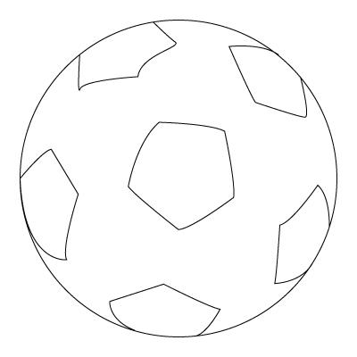Tegning til farvelægning af en fodbold