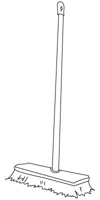 Tegning til farvelægning af en kost