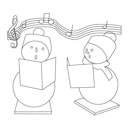 Tegning til farvelaegning af en juledekoration