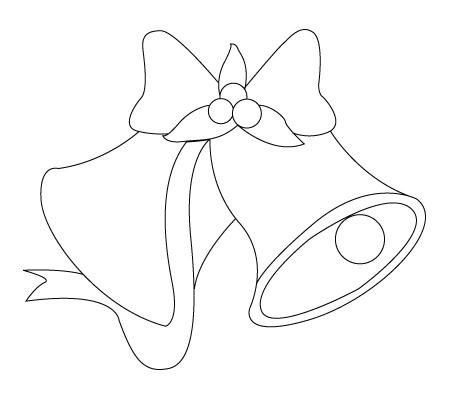 Tegning til farvelaegning af en juleklokke
