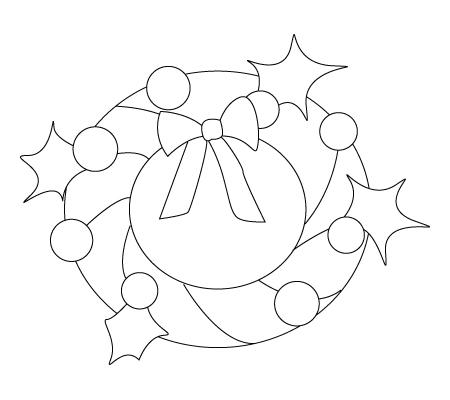 Tegning til farvelaegning af en julekrone