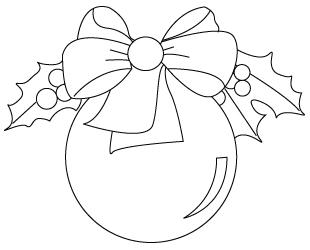 Tegning til farvelaegning af en julekugle