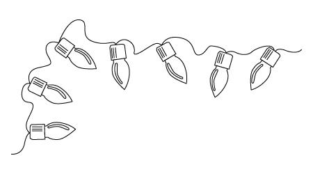 Tegning til farvelaegning af julelys