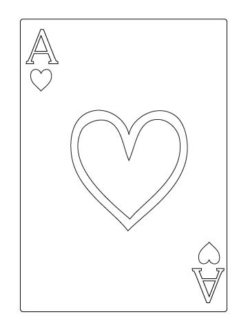 Tegning til farvelaegning af hjerter es