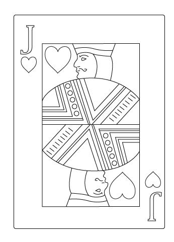 Tegning til farvelaegning af hjerter knaegt