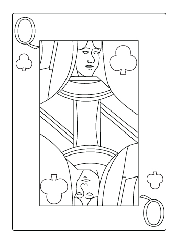 Tegning til farvelaegning af klor dame