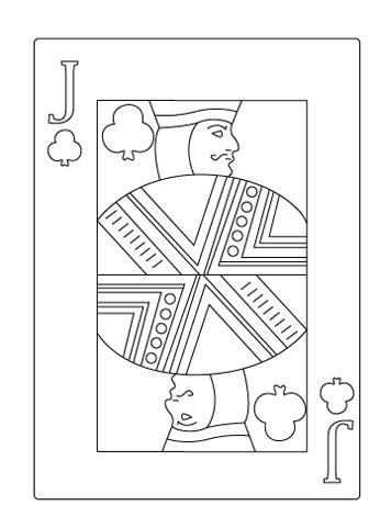 Tegning til farvelaegning af klor knaegt