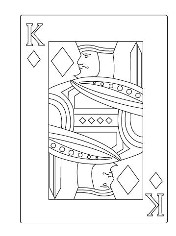 Tegning til farvelaegning af ruder konge