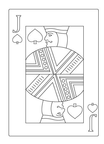 Tegning til farvelaegning af spar knaegt